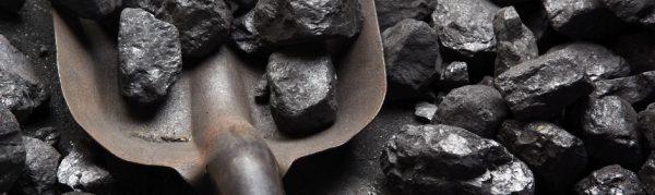 Coal and shovel